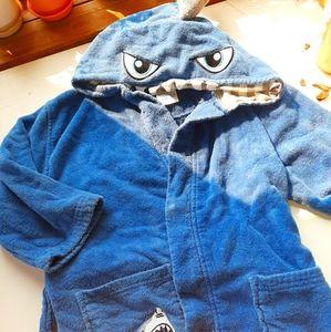 Toddler baby shark bathrobe